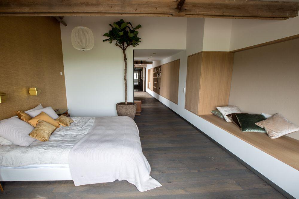 Massief houten vloer slaapkamer