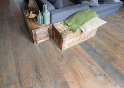 Wooden floor by D2 Project Parket at individual home in Vleuten
