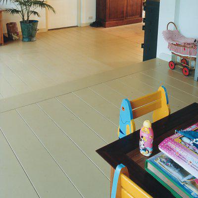 Massief houten vloer keuken